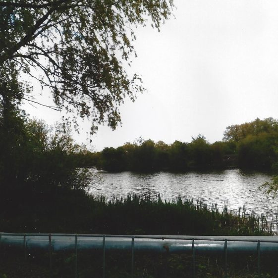 116. Alongside the cycleway at Grid ref. 197071, one of the lakes in the Colne valley is now used for fishing | L F Casey, 2014