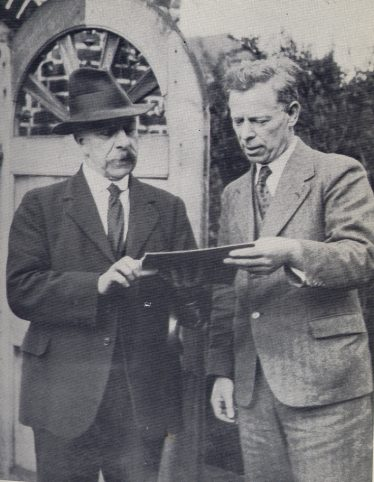 Edwin Grey with Sir E John Russell | Reproduced from
