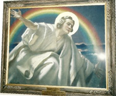 Frank Salisbury painting, formerly in High Street Methodist Church   LHS archives - photo by Les Casey