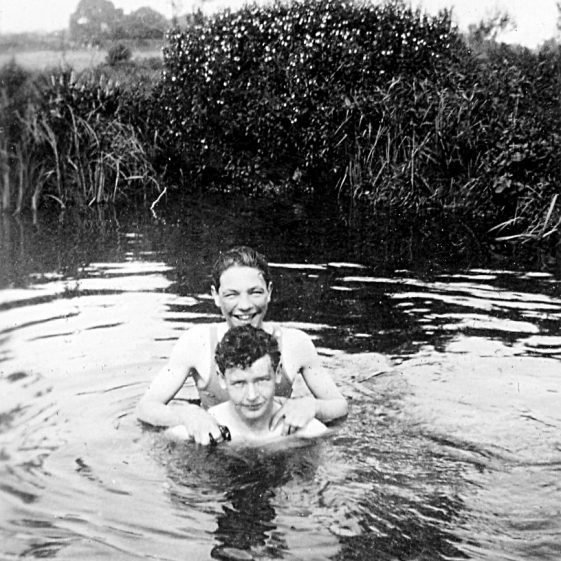 Learning to swim in the River Lea,   Di Castle's family albums