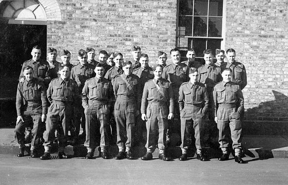 Group photos of soldiers, including Harpenden men, 1940s