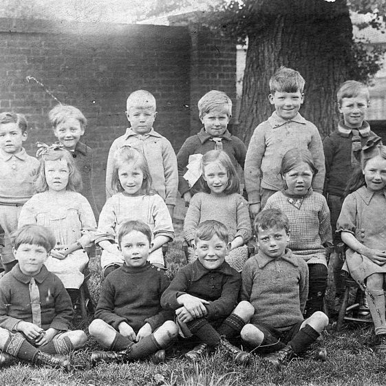 11. Class photo, St John's School - Rene Weston on left of middle row; Ronald Tuffin, seated on left of front row - c. 1924/25 | Di Castle's family albums