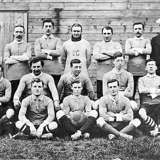 1. Harpenden First Eleven football team, with Bertie Weston in the middle of the front row - c. 1910 | Di Castle's family albums