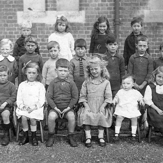10.  Infants class at St John's School. Rene Weston on right-hand end of front row. c. 1920/21 | Di Castle's family albums