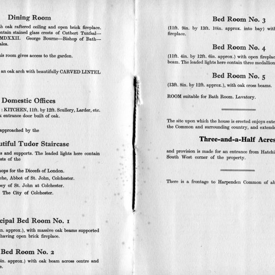 Auction brochure, 1933 - and accommodation   LHS archives, BF 25.17b