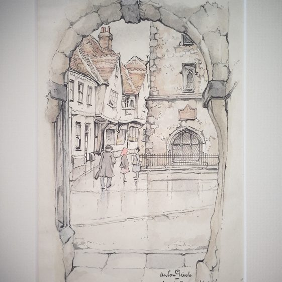 French Row and the base of the Curfew Tower from Waxhouse Gate | Anton Pieck - Copyright of the Pieck family
