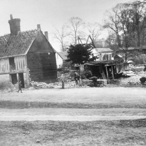 Demolition of Polly Nott's cottage to make way for Vaughan Road - 1895 | Cat no HC 24