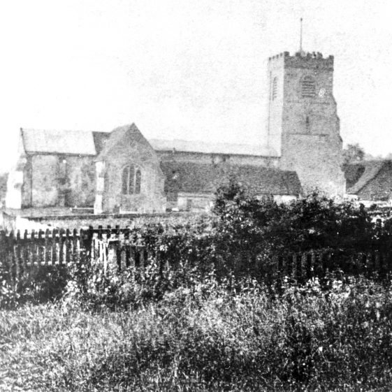 St Nicholas Church (old) from north - 1860 | Cat no HC 044