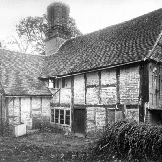 Rear of The Old House, formerly The Bull Inn, during renovation   LHS archive, cat. HC 065