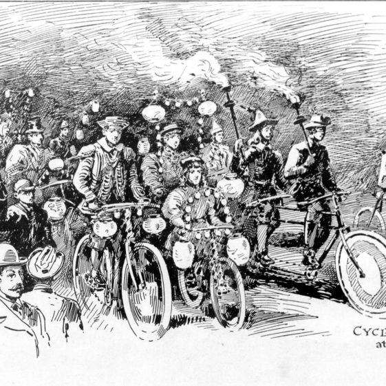 Cycle Parade at Harpenden - Diamond Jubilee - 1897 | Cat no HC 097