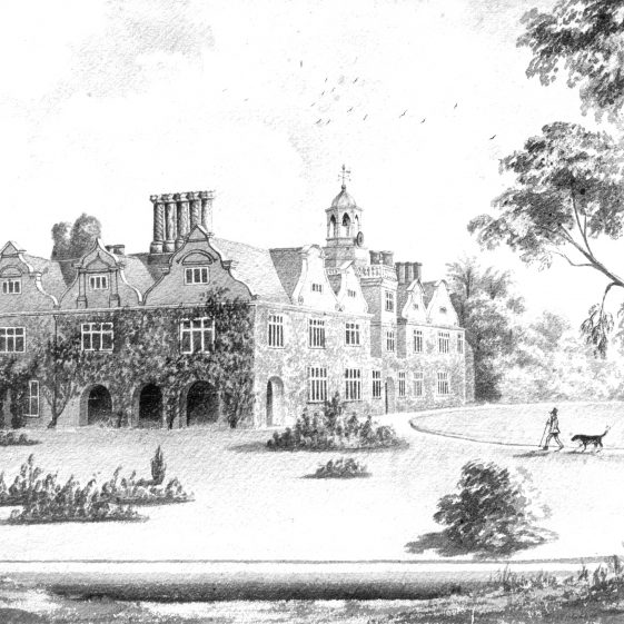 Painting of Rothamsted Manor from SE by Lady Caroline Lawes | Cat no HC 132