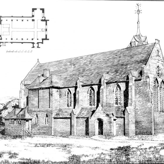 Drawing of St John's church, Southdown | Cat no HC 136