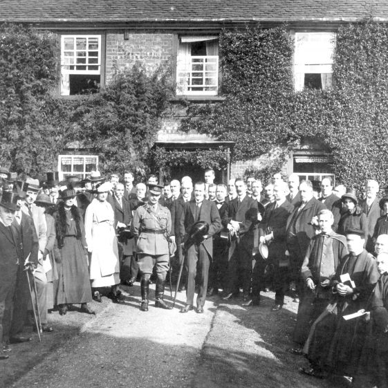 Earl of Cavan and dignitaries outside Bowers house  after Dedication of War Memorial - Oct 1920 | Cat no HC 139