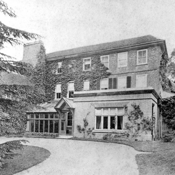 The Welcombe - home of Mr Hodgson c 1880.  Now Harpenden House Hotel | LHS archive, cat. HC 145