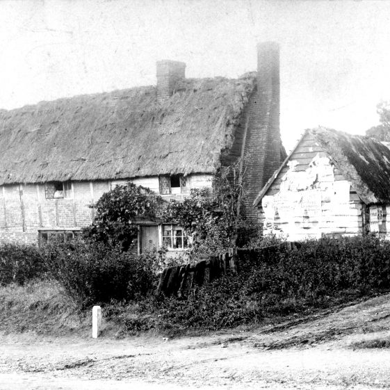 Timber framed cottages at the corner of Station Road and Victoria Road - Bristle Hall - 1880's | Cat no HC 146