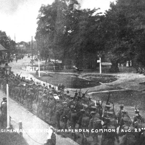 Regimental Service on Church Green, 1914/5 | LHS archive, ca. no. HC 153