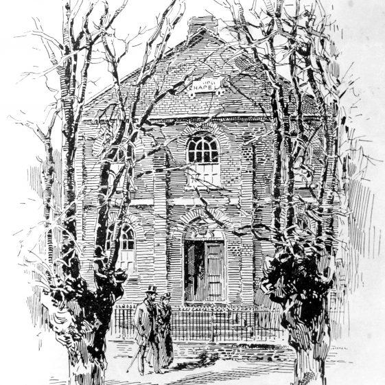 First Methodist chapel in Leyton Road - 1870 | Cat no HC 157