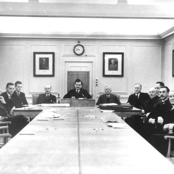 Harpenden Urban District Councilors in Council Chamber, Harpenden Hall - 1930's | Cat no HC 158