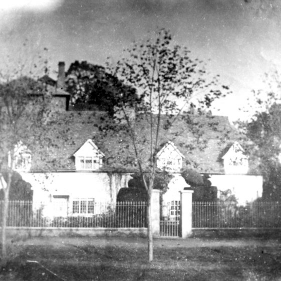 Peacock House, Lower High Street - with brewery behind - before 1871. Site of Brewery House. | Cat no HC 162