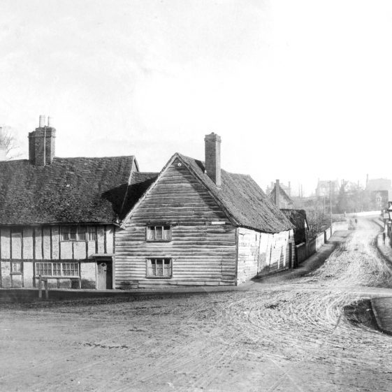 Home Farm and Stakers Lane (now No 1 Station Road) c. 1890 | Cat no HC 164