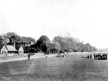 The Institute - with lads and lassies playing on the Common | LHS archive, HC 184