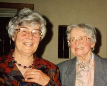 Margaret with Mildred Ashford | G Ross, 1991