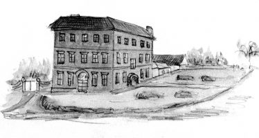 Sketch of Hammonds End, artist unknown, probably mid C19 | LHS archives - detail from scan HC 0095