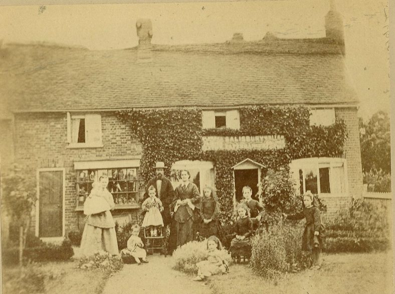Henry Salisbury and his family outide their home in Leyton Road, c.1876   LHS archives