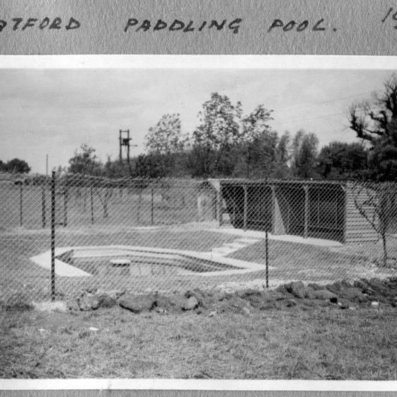 Batford Paddling Pool, 1954   LHS archives, Herring Album BF 52.2/3