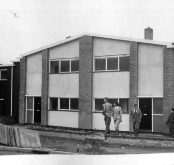 Stevenage New Town, 1954   LHS archives, Herring album BF 52.2 H