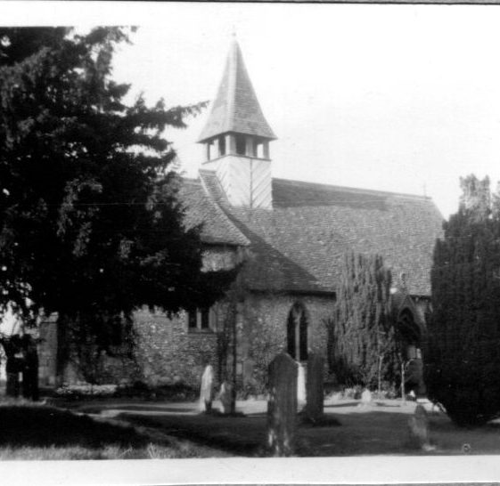 Wiggington Church, 1955 - perhaps this just records a local outing?   LHS archives, Herring album BF 52.2 F