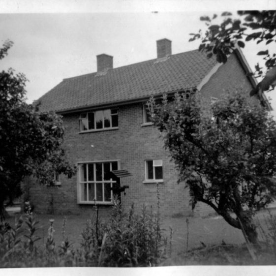House in Orchard Avenue, 1950s?, from back garden   LHS archives, Herring album BF 52.2.G