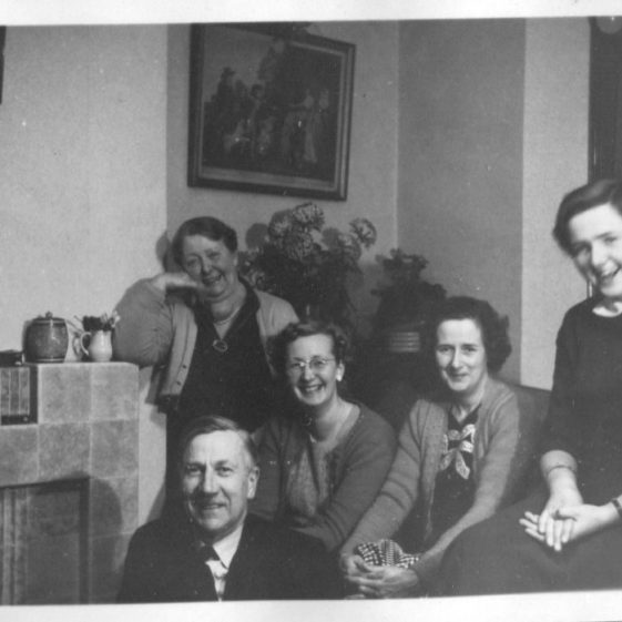 Herring family with friends, Christmas 1954   LHS archives - Herring album BF 52.2.C.2/4