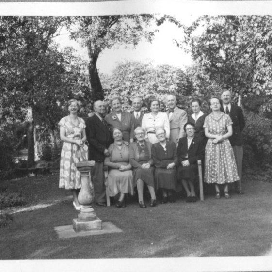 Herring family group, garden at 21 Milton Road, July 1954   LHS archives - Herring album BF 52.2.H