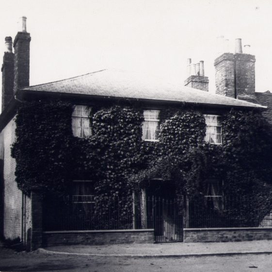 Dr Kingston's House, the home of Dr Francis Kingston, who retired in 1861. His family had been treating people and their animals for over 100 years. The house was bought in 1912 by Henry Salisbury, who pulled it down to build Kingston House Stores.  Click on this picture to link to the Story of 6 High Street | LHS archives, cat. ho. LHS 00006