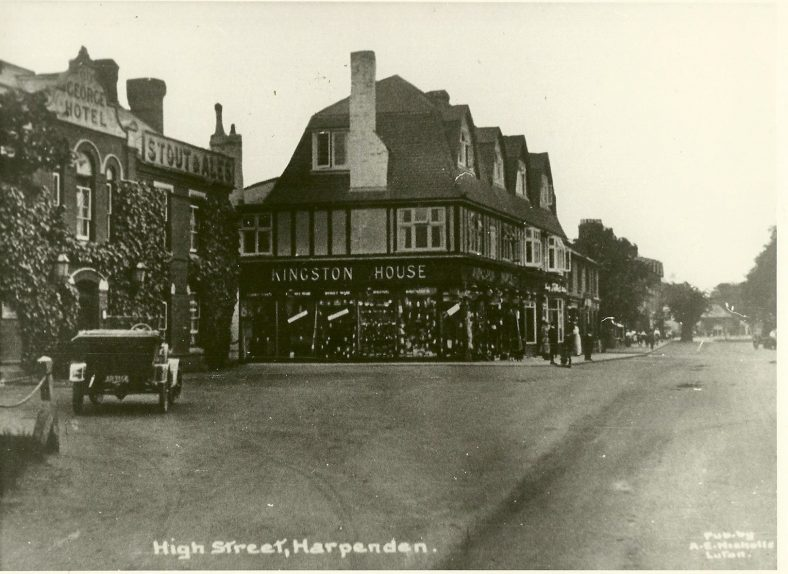 The George Inn & Kingston House Stores, c. 1920   LHS archives, cat.no. LHS 002099