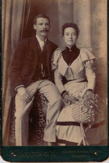 George James Roome and Ellen Wells 1893 | Henry Wilkinson, photographer