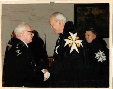 Receiving the Insignia from the Lord Prior of St John, Earl Cathcart