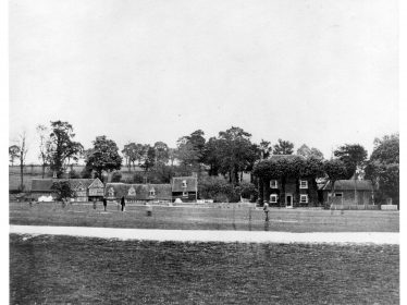 c1885 the cottages in the centre were demolished to make room for the Institute