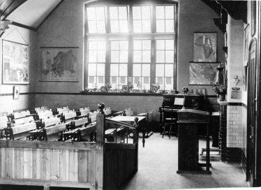 Interior of schoolroom 1930?   E Meadows