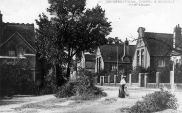 The Schools, with the Congregational Chapel on the left. Credit: LHS archives
