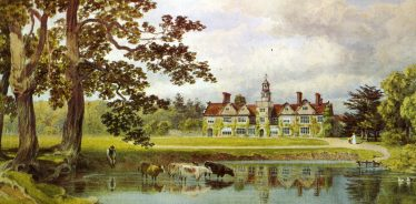 Rothamsted Manor 1892   Water colour by Lady Caroline Lawes