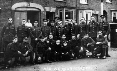 Troops billeted in Cravells Road | E Meadows