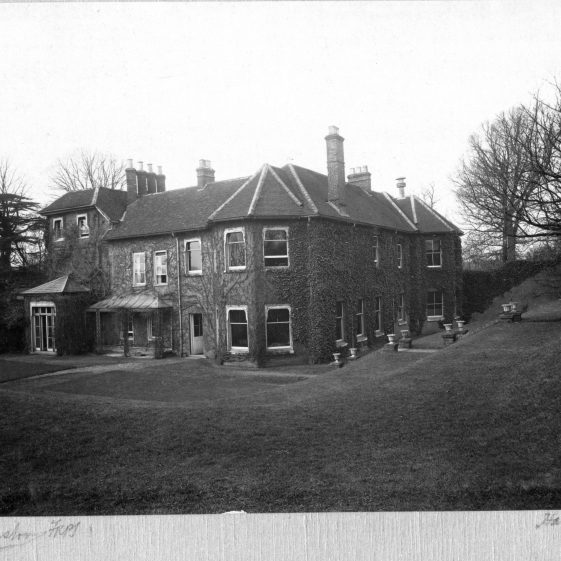 3 Welcombe from the SE corner of the gardens   LHS archives - Thurston album 3