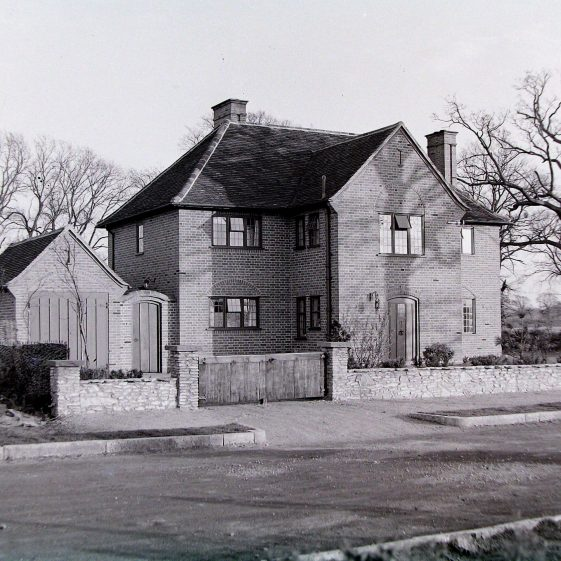 27 West Common Way - first listed as Haldon in 1936 and occupied by Mrs  B M Wren. There is now a large extension on the left-hand side | Jim Jarvis - scanned from glass negative by J Marlow