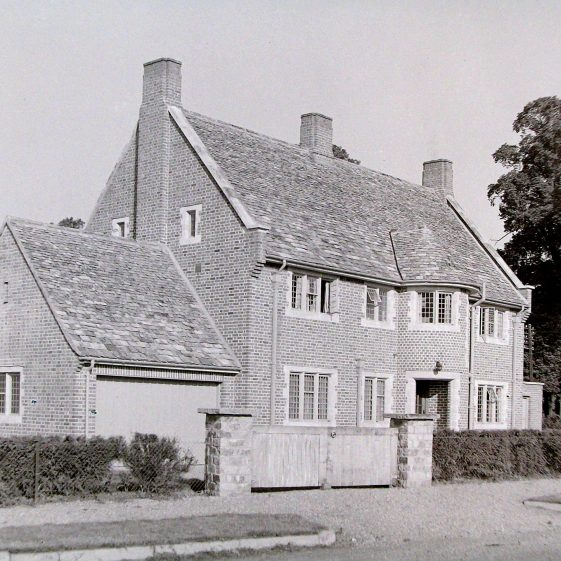 2 Oakfield Road - first listed in 1938, occupied by Mr Jackson. Undergoing major renovations in 2015-16.  A huge extension has been added where the garage stood. | Jim Jarvis - scanned from glass negative by J Marlow; JJ 1139; JG 22