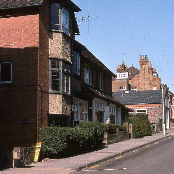 Vaughan Road, looking east, 1976   LHS archives - JJ 074