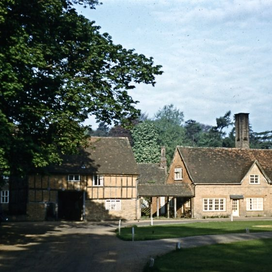 Rothamsted Manor, from east with coach entrance to yard - 1960s   LHS archives - JJ 096