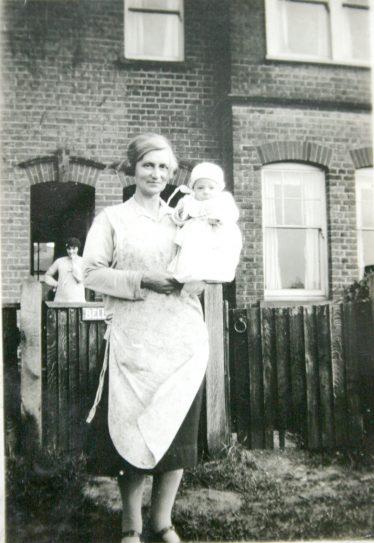 Grandma with me outside 'Belle Vue' East Common | John Olley