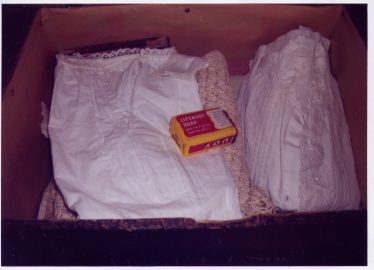 Linen and clothes for mother and baby - and the obligatory Soap | Les Casey